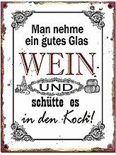 G.W. Vintage Retro Blechschild mit Spruch: Man