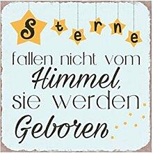 G.W. Vintage Retro Blechschild mit Spruch: Sterne