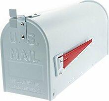 G2Trading Company 085Mississippi Briefkasten im US-Stil, Aluminium, weiß–US-Mailbox