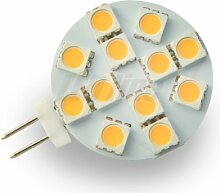 G4 12SMD LED Lampe Leuchte Strahler G4 2,4W 12SMD (5050) LEDs 12V DC Warmweiß 170 Lumen
