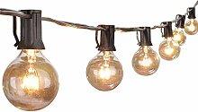 G40 25ft Globe Lichterkette,KINGCOO Wetterfestes