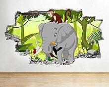 G676 Elefant Dschungel Tiere Kinder zertrümmert