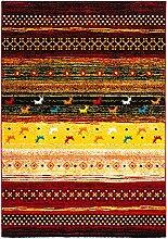 Gabbeh  Teppich Streifen Mit Farbverlauf Weich
