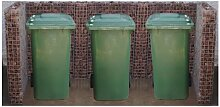 Gabiona - Mülltonnenbox 3 Tonnen