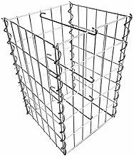 Gabione Steingabionen Steinkorb Drahtkorb Mauer Säule für Stützmauern Gartenzaun Gabionenwand Mauer Säule verzinkt verschiedene Größen wählbar (Säule 50 cm)