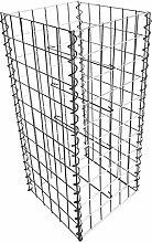 Gabione Steingabionen Steinkorb Drahtkorb Mauer Säule für Stützmauern Gartenzaun Gabionenwand Mauer Säule verzinkt verschiedene Größen wählbar (Säule 100 cm)