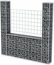 Gabione U-Form Stahl 160 x 20 x 150 cm Gabione