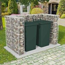 Gabionen-Mülltonnenverkleidung für 2 Tonnen