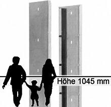 Gabionen-Zaunsystem SAPHIR - Zink - Höhe: 1045mm