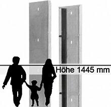 Gabionen-Zaunsystem SAPHIR - Zink - Höhe: 1445mm