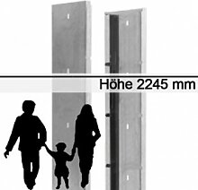 Gabionen-Zaunsystem SAPHIR - Zink - Höhe: 2245mm