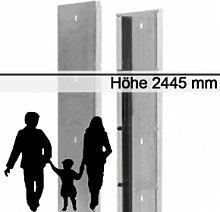 Gabionen-Zaunsystem SAPHIR - Zink - Höhe: 2445mm