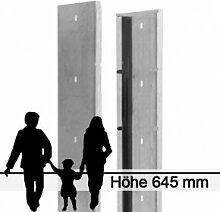Gabionen-Zaunsystem SAPHIR - Zink - Höhe: 645mm