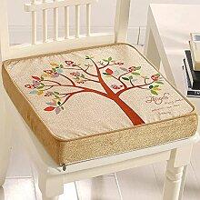 Gabriera Dekorative Memory Foam, Sitz Polster eckig Stuhl Sitzkissen, Rückenpolster für Home Office fahren Reisen (45.7 x 45.7 cm, thickness-8 cm) Tree