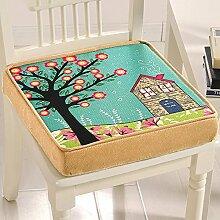 Gabriera Dekorative Memory Foam, Sitz Polster eckig Stuhl Sitzkissen, Rückenpolster für Home Office fahren Reisen (45.7 x 45.7 cm, thickness-8 cm) Sweet House