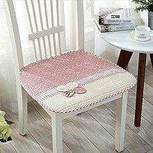 """Gabriera Lovely Flower Stuhl Sitz Kissen Stuhl Weiche Baumwolle, Pads für Esszimmer Büro Home Auto Stühle Nonslip Deko Stuhl mit Kabelbinder (45 x 45 cm/17.7"""" x 17.7"""") Pink (Pack-1)"""