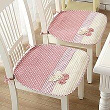 """Gabriera Lovely Flower Stuhl Sitz Kissen Stuhl Weiche Baumwolle, Pads für Esszimmer Büro Home Auto Stühle Nonslip Deko Stuhl mit Kabelbinder (45 x 45 cm/17.7"""" x 17.7"""") Pink (Pack-2)"""