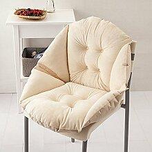 gabriera Weich Stuhl Kissen High Rücken niedliche Shell Form Deko Kissen Hochlehner Stuhl Sitz Kissen Pads für Home Office Lounge Geschenke (W x H: 55,1x 48cm) beige