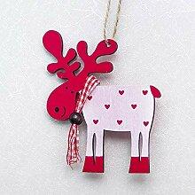 Gaddrt Weihnachten Bemalte Holz Elk Anhänger