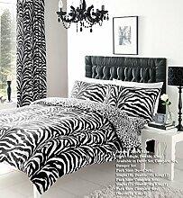 Gadgets2Sel Zebra Print Cover Bettbezug Set