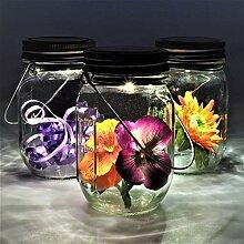 Gadgy ® Solarglas Einmachglas | Set 3 Stück mit
