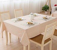 Gänseblümchen Leinen Rechteck Schrank Soft Tischdecke Pink ( größe : 140*180cm )