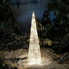 Gärtner Pötschke LED-Leucht-Pyramide Starlight, 50 LEDs