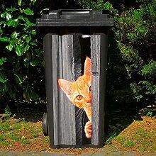 Gärtner Pötschke Mülltonnen-Aufkleber Katze