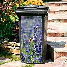 Gärtner Pötschke Mülltonnen-Aufkleber Lavendel