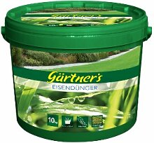 Gärtners Eisendünger für schönen Rasen und