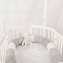 gaeruite Babybett Kissen, 2.5M Kinderbett Krippe
