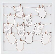Gäste-Buch-Alternative BABY-PARTY Holz-Rahmen