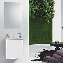 Gäste WC Badmöbel Miami in Weiß oder Wenge