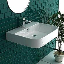 Gäste WC Waschbecken Weiß Keramik Waschtisch
