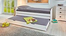 Gästebett 3-in-1, 90x200 cm, weiß mit