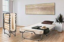 Gästebett | Klappbett | Metallbett | Raumsparbett 112.00 auf Rollen inkl. Husse von Dico | Liegefläche 78x197cm