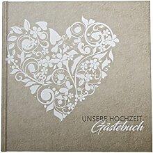 Gästebuch Vintage Hochzeit Spitze Hardcover