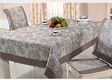 GAIHU Tablecloth Cloth Rural Table Cloth European Style Tablecloth waterproof (Size : 150*260cm)