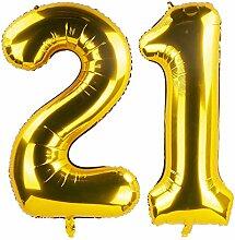 GAKA 101,6 cm Geburtstag Zahlen Luftballons