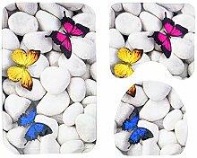 GAL Stein Schmetterling Muster Teppich Bodenmatte