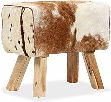 Galapara Fellhocker Sitzhocker Holzhocker   Modern