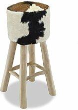Galapara Fellhocker Sitzhocker Holzhocker | Modern