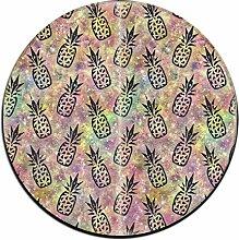Galaxy Ananas rund Boden Teppich Fußmatten für Esszimmer Schlafzimmer Küche Badezimmer Balkon