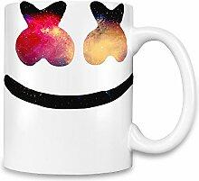 Galaxy Marshmello Face Kaffee Becher