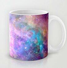Galaxy Nebel Kaffee Becher 11OZ Einzigartige Universe Raum Keramik Blume Kaffee Tasse Great Novelty Geschenk Weihnachten Geschenke für Männer, Frauen, Oma, Opa, Freunde, Boss und Lehrer