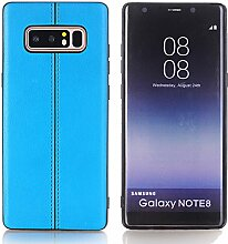 Galaxy Note 8 Hülle, TechCode Premium PU-Leder leichte Luxus stilvolle klassische Stil Slim Fit Retro ultra dünne Ganzkörper-Schutzhülle für Galaxy Note 8 (blau)