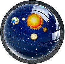 Galaxy Space Planets SaturnSchrankknöpfe