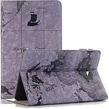 Galaxy Tab A 10.1 Tasche, elecfan® Premium PU Leder Book Tasche Hülle Case Etui Schutzhülle mit Ständer und Auto Schlaf Aufwachen Funktion für Galaxy Tab A 10.1 Zoll SM-T580N / SM-T585N (Tab A 10.1, Karte-Grau)