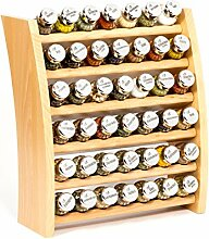 GALDBIS Gewürzregal, Küchenregal aus Holz für