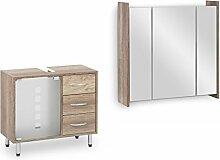 Galdem Badmöbel-Set Spiegelschrank FROSTI mit
